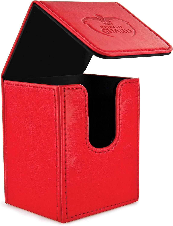 Grey Ultimate Guard 100 Card Flip Leather Deck Case