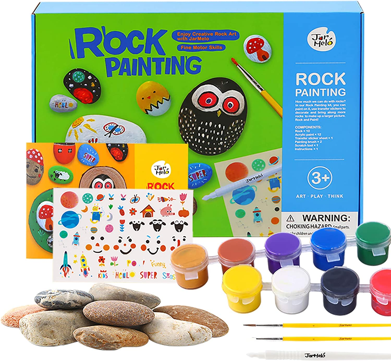 Arts /& Craft Rock Painting Kit Best Kids Paint Gift Arts /& Crafts for Girls /& Boys Ages 4-12 Non Toxic Rocks Painting Kits for Kids Activities Kits for Kids eco-Friendly