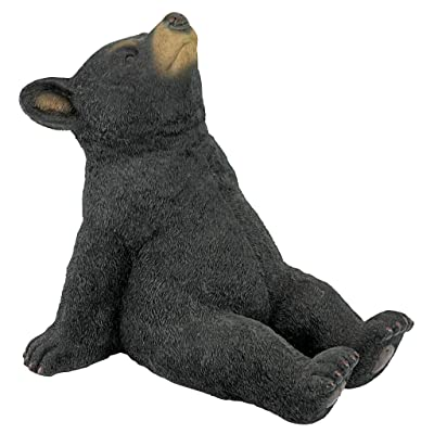 Design Toscano QM2622000 Catching Rays Bear Cub Statue, full color : Garden & Outdoor