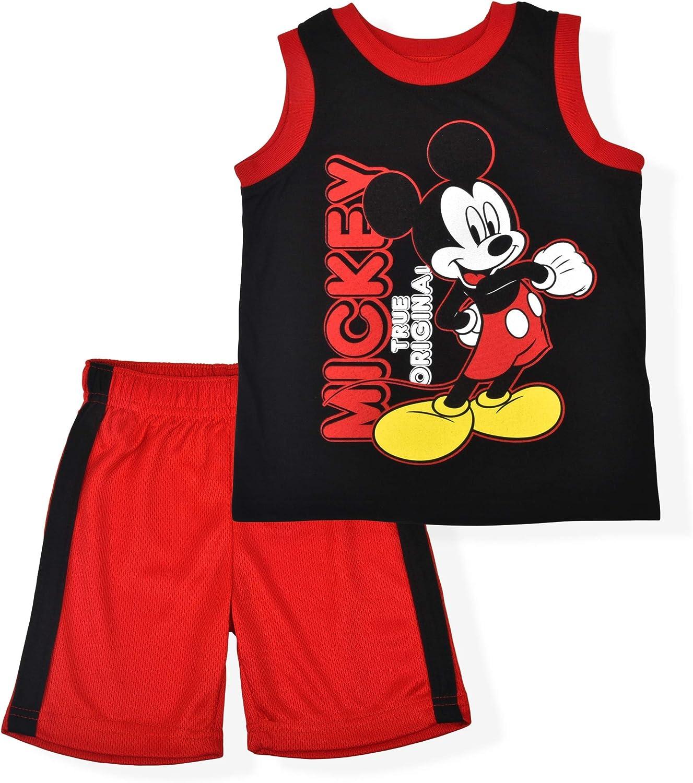 Disney Mickey Mouse Original Mesh Short Set with Sleeveless Shirt