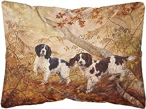 Caroline's Treasures HEH0139PW1216 Springer Spaniels by Elizabeth Halstead Fabric Decorative Pillow, 12H x16W, Multicolor