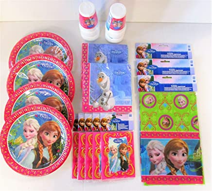 Disney Frozen Party Pack for 30 People - Plates Cups Napkins Table Covers etc:  Toys & Games