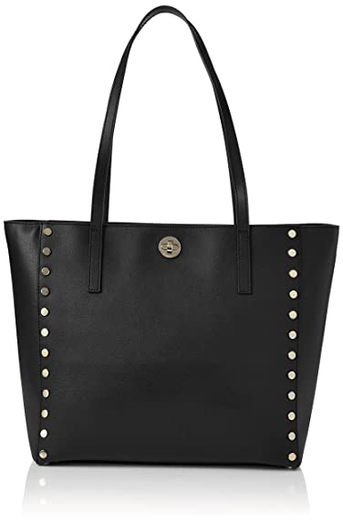 cb5c1e452 Amazon.com: Michael Kors 30S7GR7T3L Womens Rivington Stud Satchel Black  (Black): Shoes