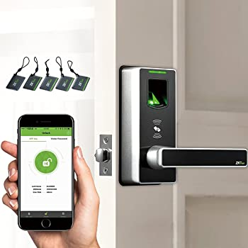 Fingerprint Door Lock with Bluetooth Biometric Smart Lock Keyless Home Entry + 5pcs of RFID Cards (Zinc Alloy)