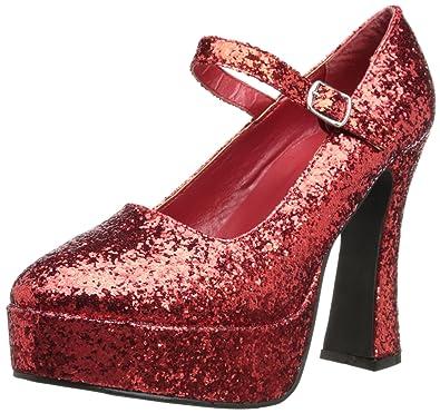 6a5034181ed ELLIE 557-EDEN-G Women 5 quot  Chunky Heel Sexy Glitter Mary Jane Platform