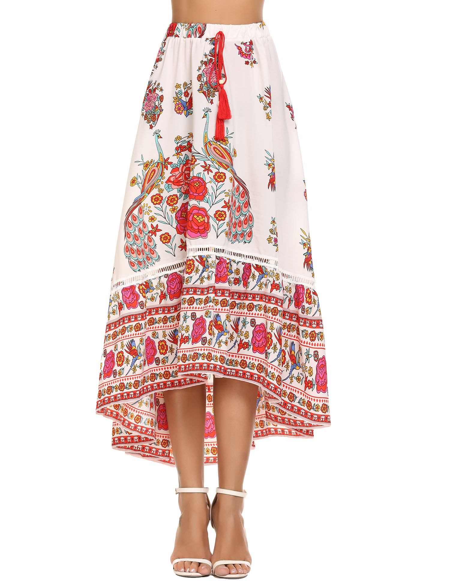 Women's Long Chiffon Bohemian Hippie Skirt