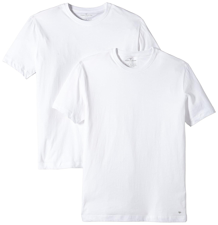 931486c9f9ca5d TOM TAILOR für Männer T-Shirts Tops Herren-T-Shirt im Doppelpack   Amazon.de  Bekleidung