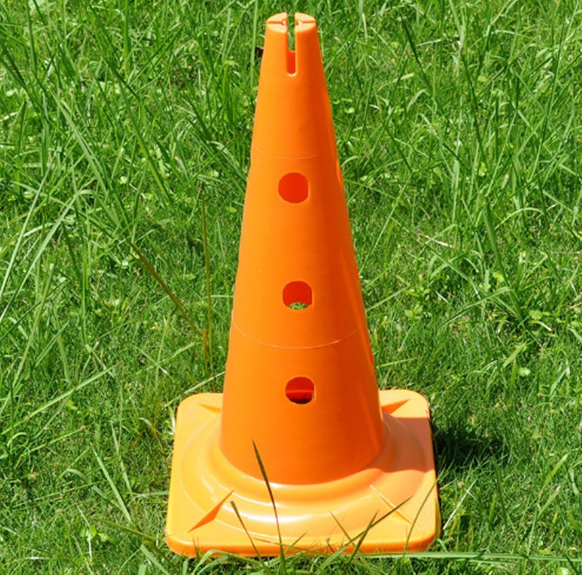 Wenhaoyu 50/cm Obstacle Road Block panneau carr/é en bas avec trou Tonneau Road Sign Ballon de football dentra/înement C/ône de panneau cr/ème glac/ée Cylindre