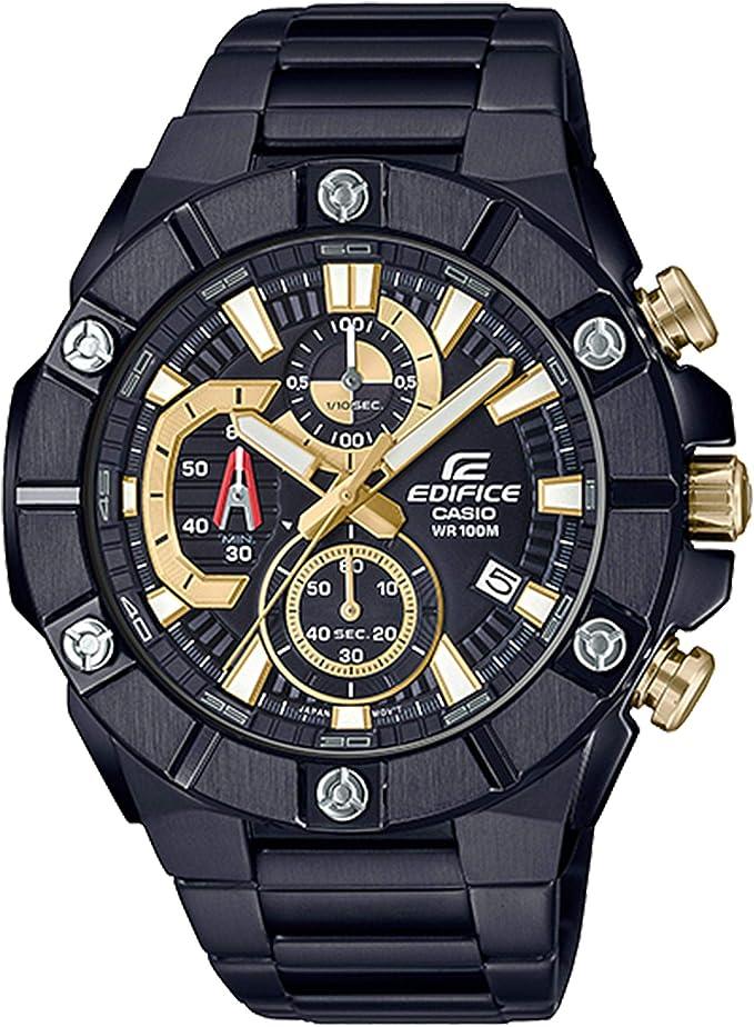 Orologio cronografo da uomo al quarzo casio edifice con quadrante nero EFR-569DC-1AVUEF