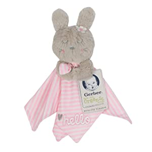 GERBER Boys and Girls Newborn Infant Baby Toddler Nursery Soft Plush Security Blanket, Pink Bunny, One Size