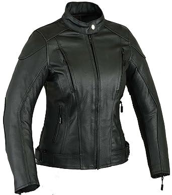 Blouson moto femme en cuir