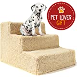 Animals Favorite Pet Bed Stairs, 3 Steps Ladder for Small Dogs and Cats, Portable, Supports Up to 20 lbs.