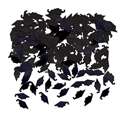 Creative Converting 50382 Graduation Caps Confetti, One Size, Black: Childrens Party Confetti: Kitchen & Dining