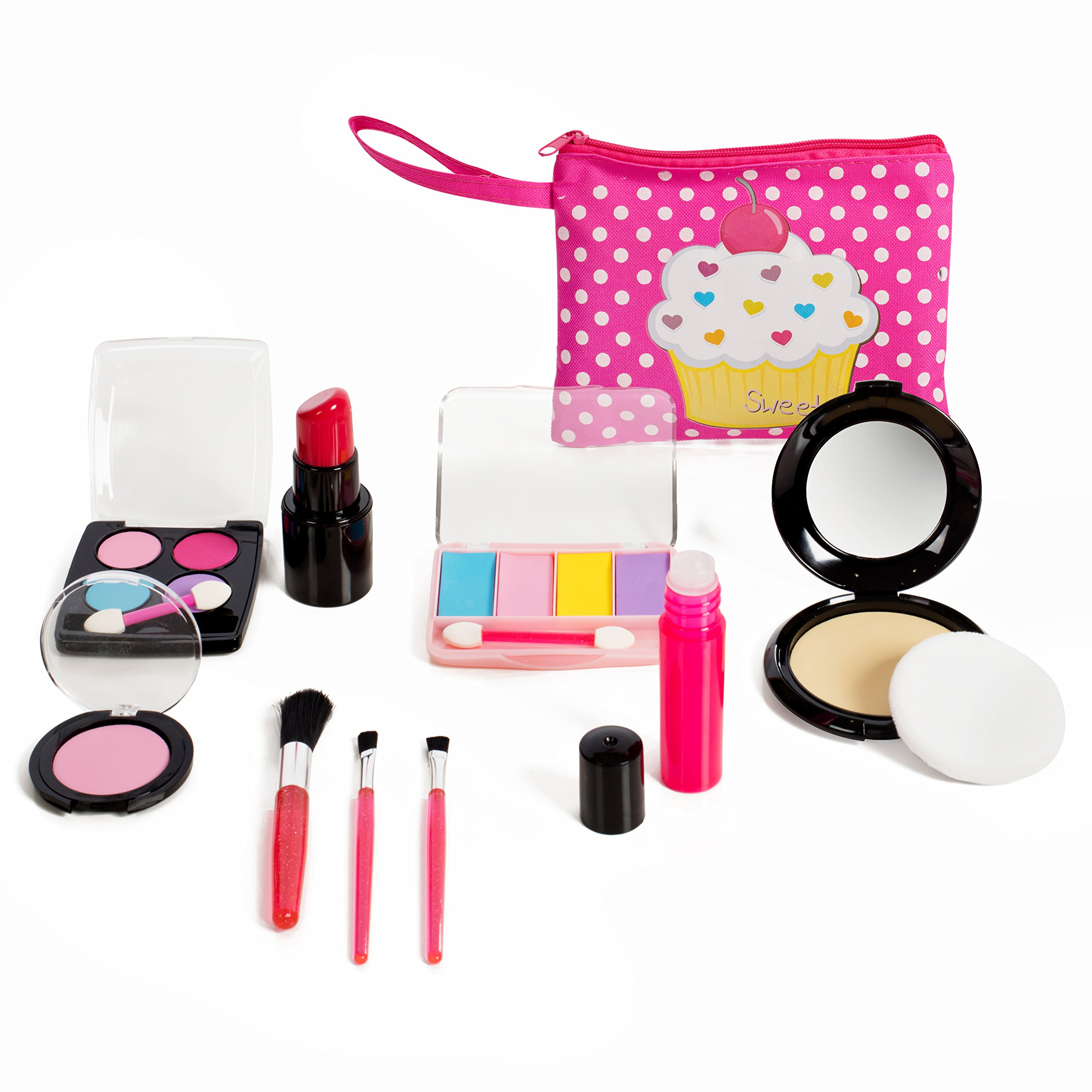 Beverly Hills Kids Pretend Play Makeup Cosmetic Kit With Bright Polka Dotted Cosmetic Bag by Beverly Hills (Image #3)