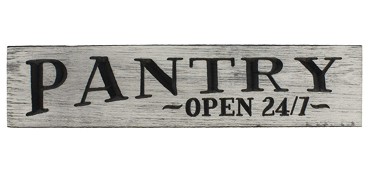 Rustic Pantry Open 24/7 Large Engraved Wood Wall Sign Kitchen Room Decor