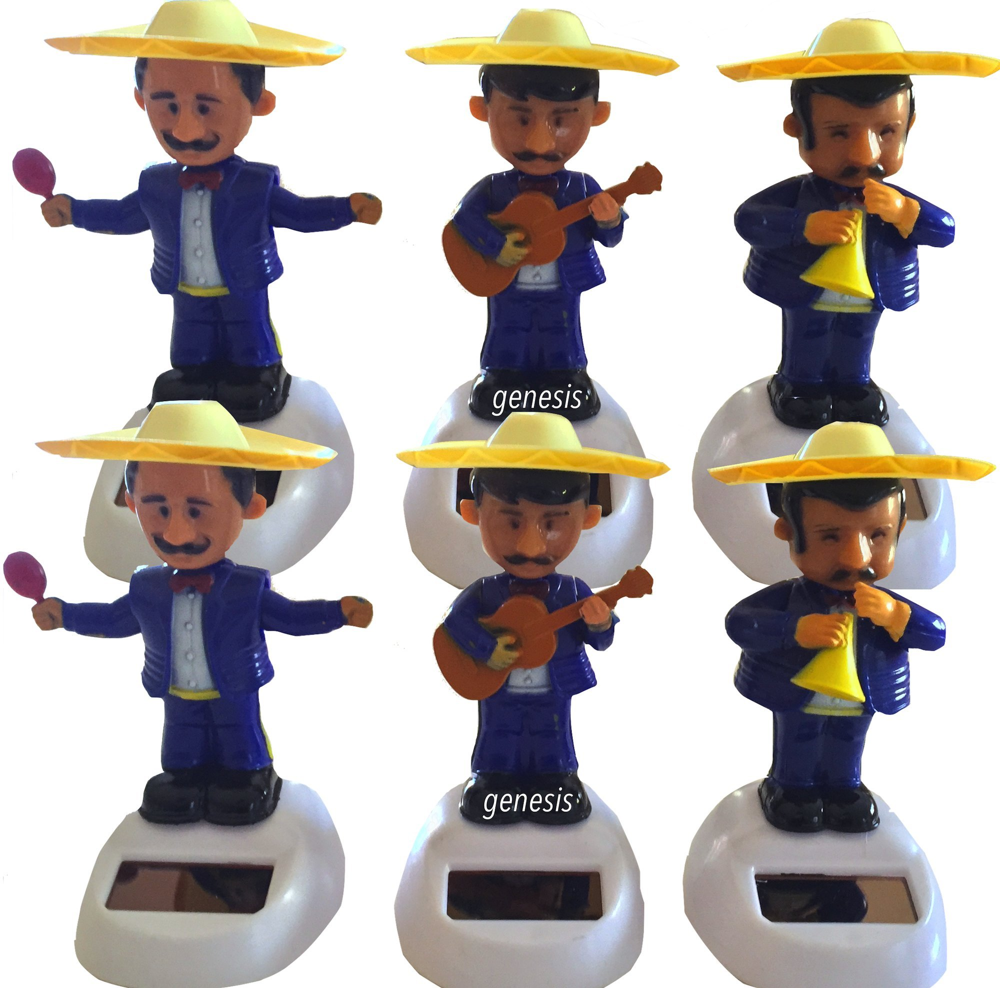 Mariachi Solar Powered Dance Toys Cinco De Mayo Edition Gift Set (pack of 6)