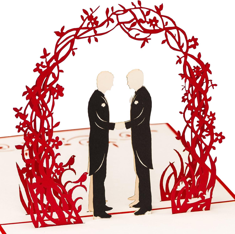 Pour couple damour Pour la Saint Valentin Pour couple damour la f/ête des mariages. Carte de mariage 3D Pop Up faite /à la main pour tous les /âges la Saint Valentin