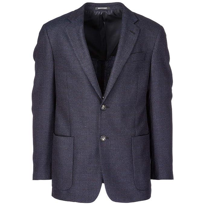 online store b18a6 b561b Emporio Armani Giacca Uomo Blu 50 EU: Amazon.it: Abbigliamento