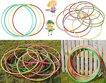 3 x Multicolour Hula Hoop Children/'s Adult Fitness Activity Plastic Hoola Hoop