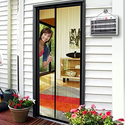 Magnetic Screen Door, Magnet Door Mesh 36u0026quot; X 84u201d Fit Doors Size Up