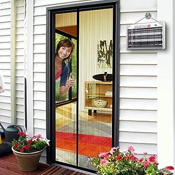 Magnetic Screen Door, Magnet Door Mesh 36u0026quot; X 80u201d Fit Doors Size Up