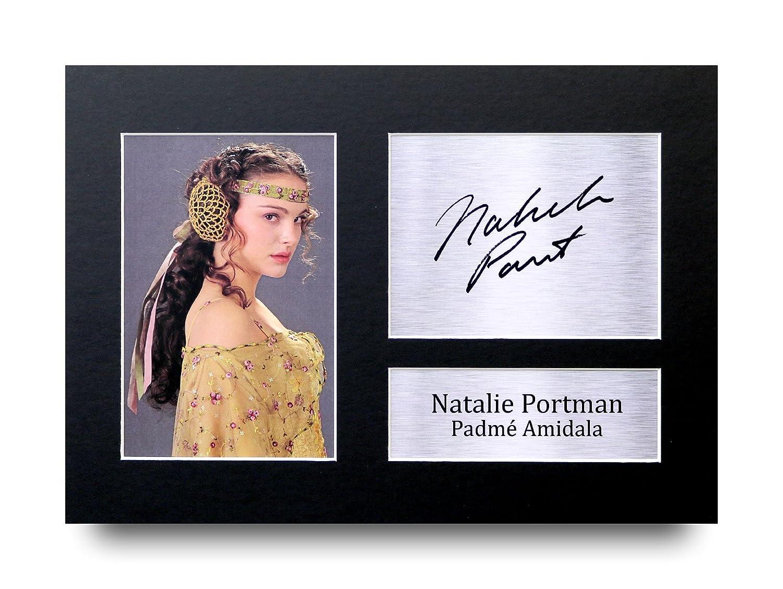 NATALIE PORTMAN signé A4autographe Star Wars Padmé Amidala Impression photo écran–Idée cadeau HWC Trading