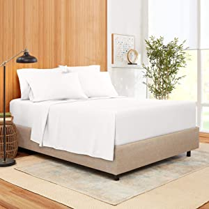 Full Size Sheet Set 6 Piece - Bamboo Blend Hotel Luxury Bed Sheets - Extra Soft Bamboo and Microfiber Blend - Breathable & Cooling Sheets - Wrinkle Free - Comfy – Full Size Sheets – White Bed Sheets