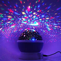 [Newest Generation] LED Night Lighting Lamp -Elecstars Light Up Your Bedroom With This Moon, Star,Sky Romantic LED Nightlight Projector