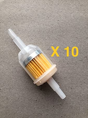Kohler clear for 1//4 5//16 Fuel Line Universal Fuel Filter Barbed 2 Pack Honda and Others