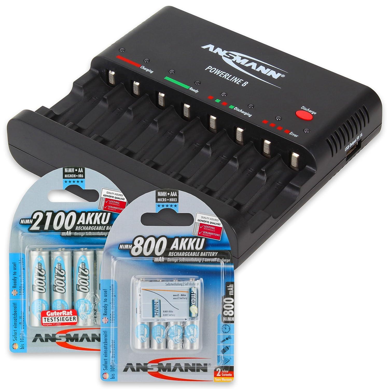 AA//AAA, USB Cargador pilas negro ANSMANN 1001-0006