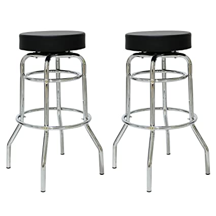 Terrific Amazon Com Porthos Home Nh003A Blk Retro 360 Degree Swivel Pdpeps Interior Chair Design Pdpepsorg