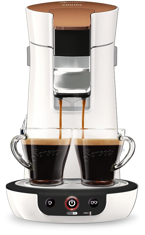 Senseo Viva Café HD7836/00 - Cafetera (Independiente, Máquina de café en cápsulas, 0,9 L, Dosis de café, 1450 W, Copper colour, Blanco): Amazon.es: Hogar