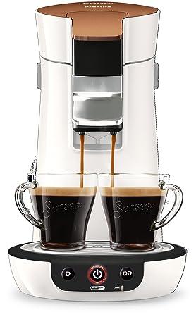 Senseo Viva Café HD7836/00 - Cafetera (Freestanding, Pod coffee machine, 0.9 L, Coffee pod, 1450 W, Copper, White): Amazon.es: Hogar