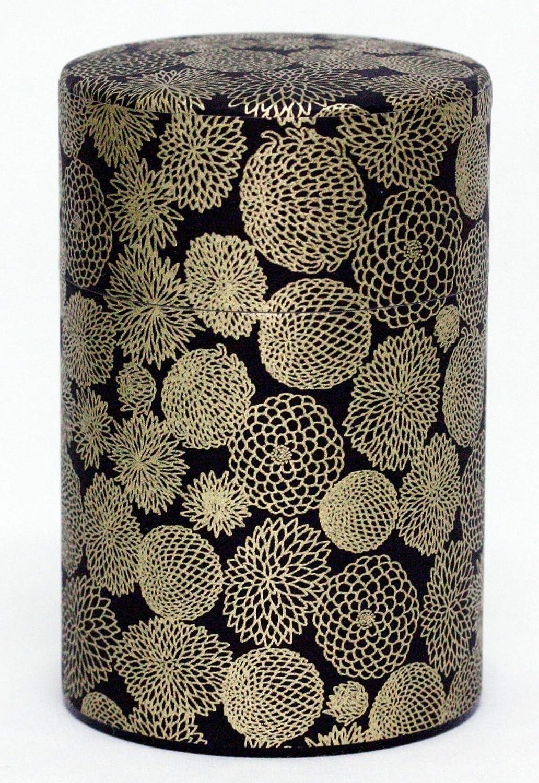 KOTODO Washi Paper Tea Tin Canister: Long 5.3oz (150g) Golden Fireworks (#69), Japan