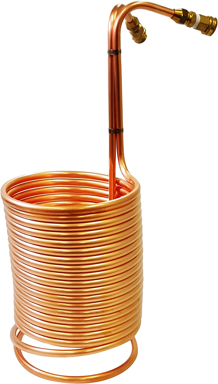 "NY Brew Supply AZ-W1250-CG Copper wort chiller, 1/2"" x 50',"
