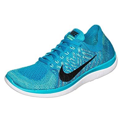 the latest d6a62 087ee Nike Free 4.0 Flyknit Damen Laufschuhe Blue Lagoon (42,5)