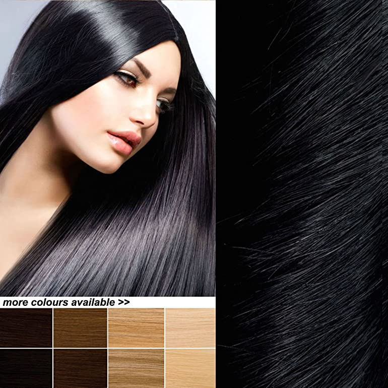 The posh hair hair extensions boutique full head clip in real the posh hair hair extensions boutique full head clip in real remy human hair extensions uk seller many colours 18 inch 1 jet black pmusecretfo Images