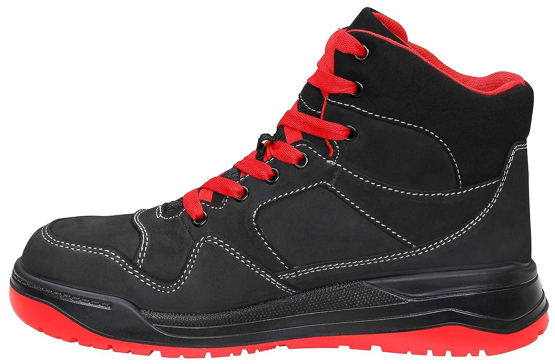ELTEN Sicherheitsschuhe MAVERICK schwarz-rot schwarz-rot schwarz-rot Mid ESD S3, Herren, sportlich, Turnschuhe, leicht, schwarz rot, Stahlkappe  0e2cf5