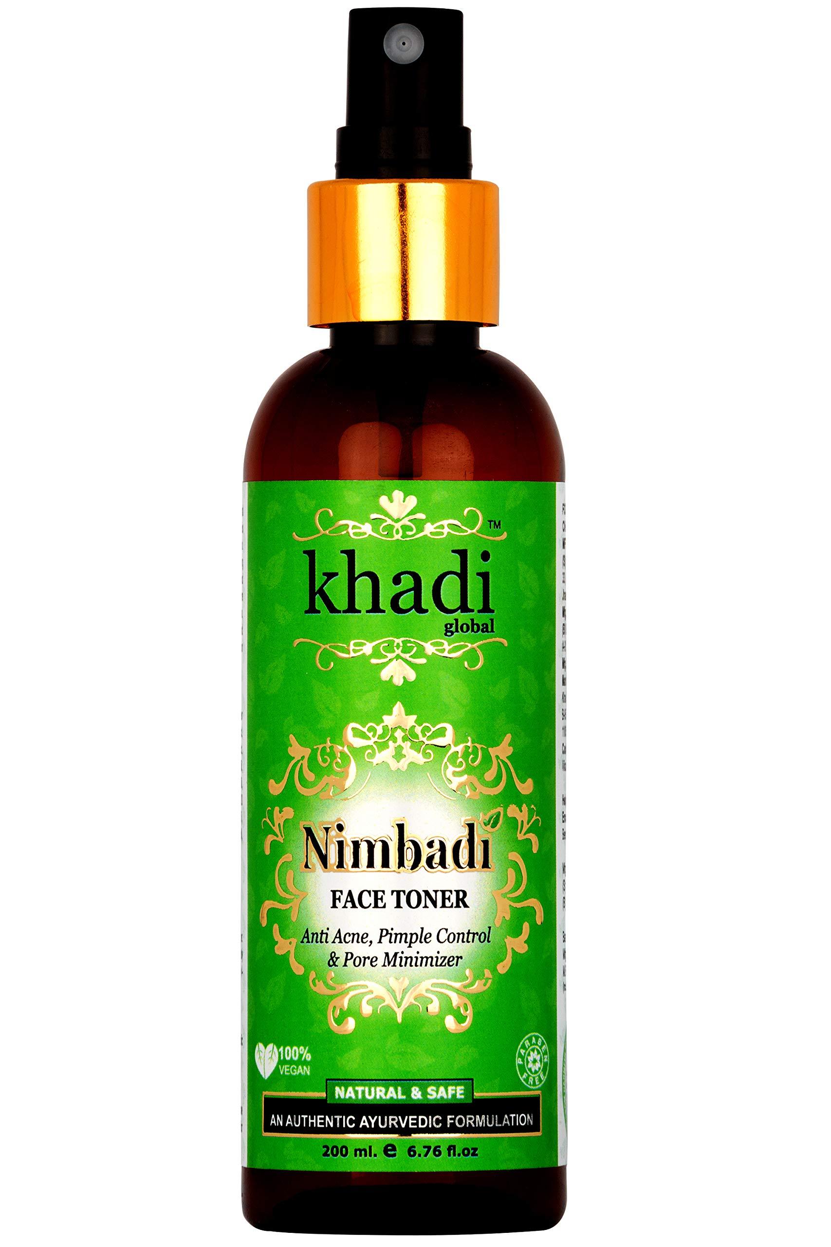 Khadi Global Nimbadi Anti Acne Pimple Control and Pore Minimizer Face Toner with 5 Type of Tulsi, Neem, Witch Hazel product image