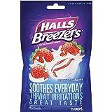 HALLS Breezers Throat Drops, (Creamy Strawberry, 25 Drops)