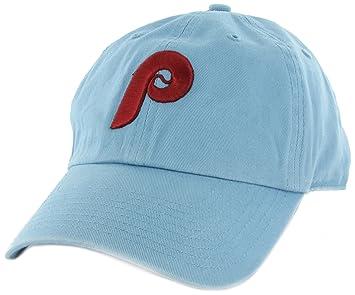 49ac9fd39eee48 Philadelphia Phillies 47 Brand Cooperstown Franchise Hat - Light Blue,  Baseball Caps - Amazon Canada