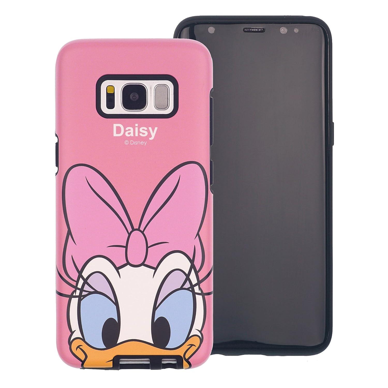 Funda Galaxy S8 [Protección híbrida contra caídas] Disney Daisy Duck Linda Doble Capa Hybrid Carcasas [TPU + PC] Parachoques Cubierta para [ Samsung ...