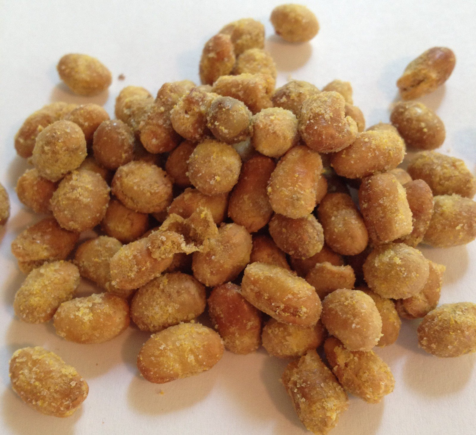 Wasabi Roasted Seasoned Soy Nuts WASABI 1 pound bag by The Brittle Box Candy Co.