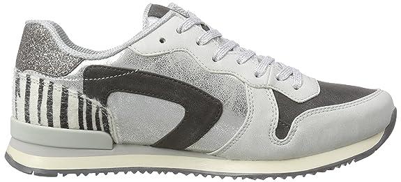 Tamaris 23637, Damen Sneakers, Mehrfarbig (Plat.Glam Comb 928), 40 EU