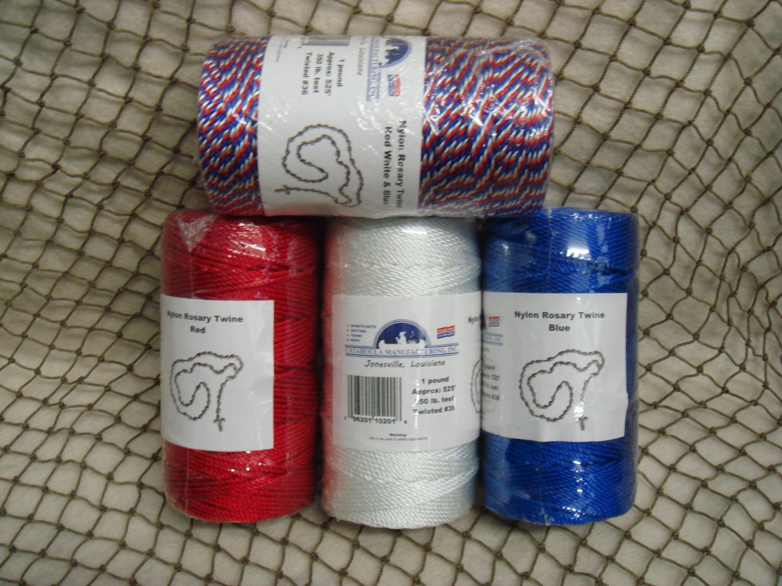Rosary Twine, Size 36, available in 14 colors (Assorted, 2 White, 10 Mixed) by CMI
