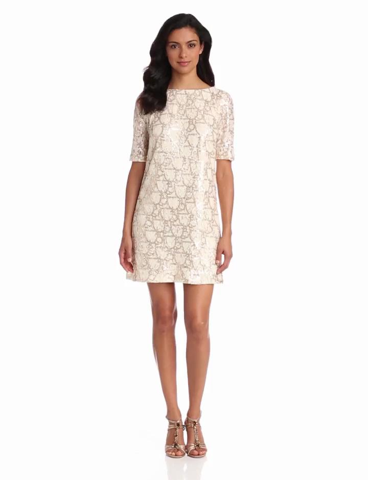 Jax Womens Sequin Dress