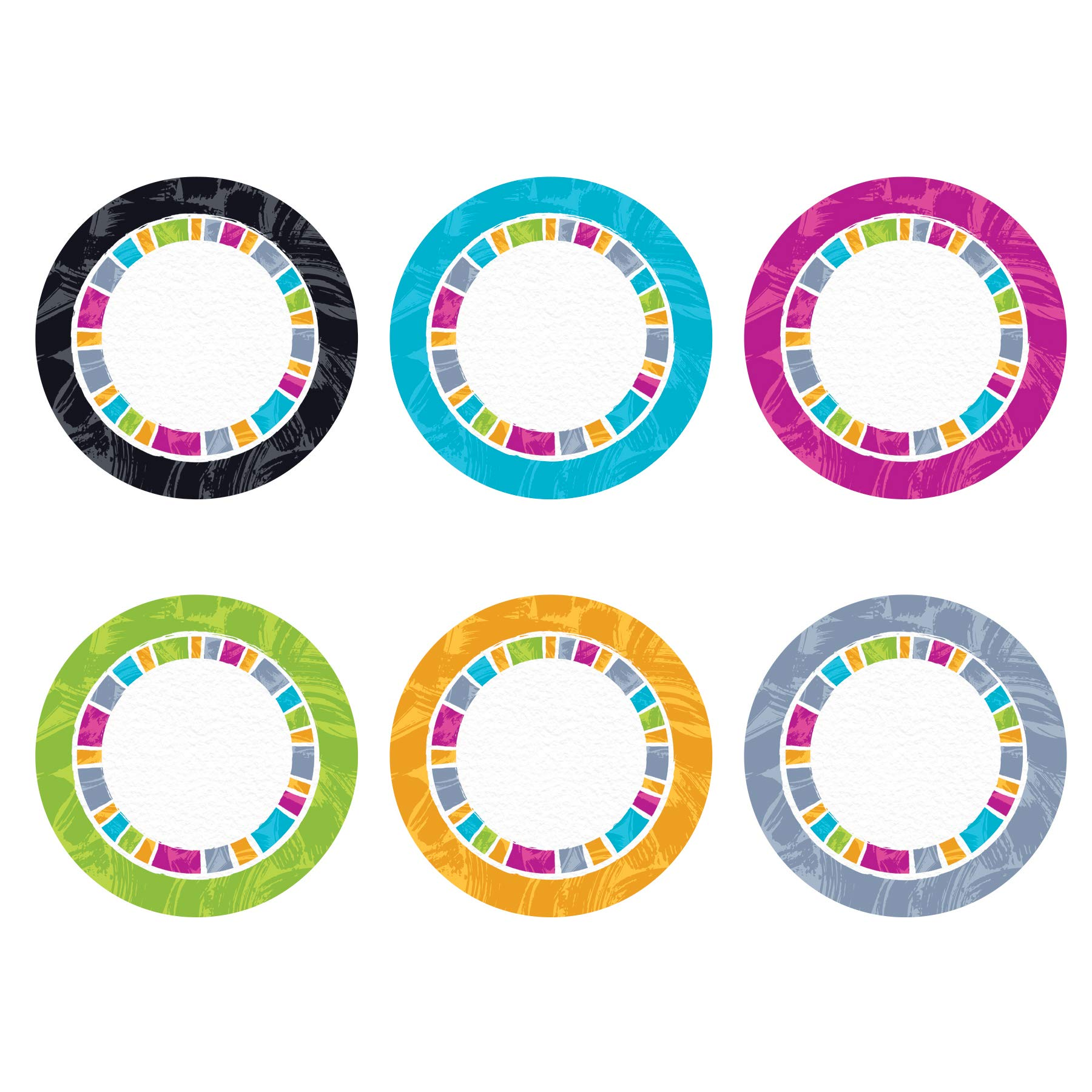 Color Harmony Circles Classic Accents Variety Pack, 36 Count by Trend Enterprises Inc