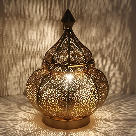Oosterse Tafellamp Marokkaanse Vloerlamp Gohar Hoogte 30 Cm In Antiek Goud Look E14 Fitting Bedlampje Van Metaal Als Uit 1001 Nacht Mooie Kerstverlichting Decoratie Ln2090 Amazon Nl Klussen Gereedschap