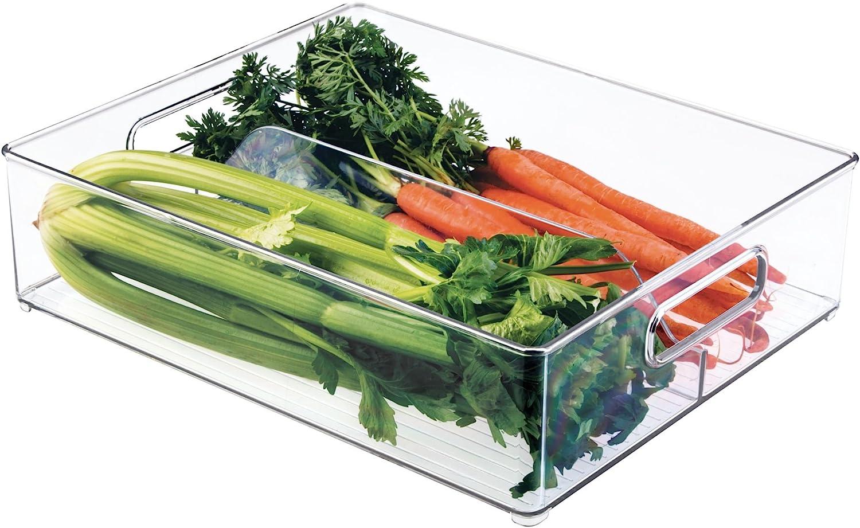 Amazon Com Interdesign Fridge Binz Deep Split Bin In Clear Home Kitchen