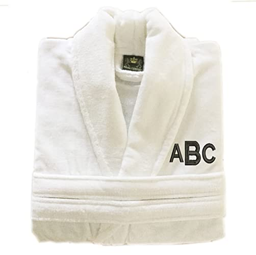 6f41f6f839 Image Unavailable. Image not available for. Color  Personalized Monogrammed  Turkish Cotton Terry Velour Bathrobe